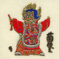 雅楽蒔絵シール・蘭陵王(多色02)