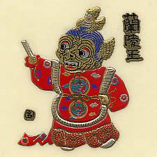 雅楽蒔絵シール・蘭陵王(多色03)