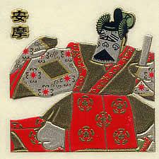 雅楽蒔絵シール・安摩(多色01)