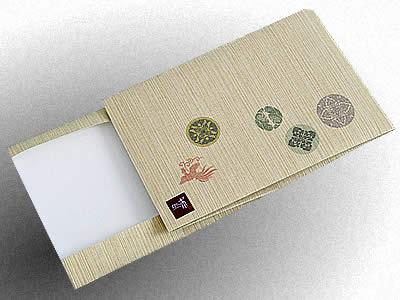 雅楽楽譜帳用ブックカバー 有職紋多色